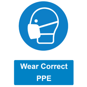 Wear PPE sign